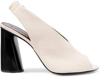 Mercedes Benz Castillo - Rowin Leather Slingback Sandals - Ivory