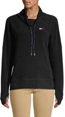 Tommy Hilfiger Draped-Neck Drawstring Sweater