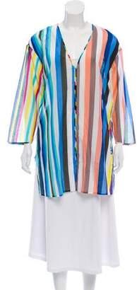 Diane von Furstenberg Owen Stripe Three-Quarter Sleeve Tunic w/ Tags