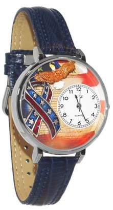 Whimsical Watches American Patriotic Watch in Silver (Large)