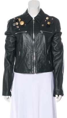 Dolce & Gabbana Embellished Lambskin Jacket