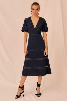 Keepsake SENSE MIDI DRESS navy