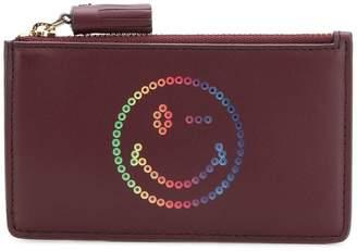 Anya Hindmarch Wink zipped card key case rainbow purse