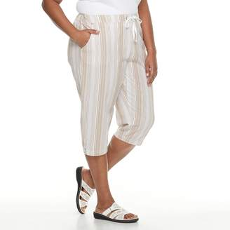 Croft & Barrow Plus Size Sheeting Pull-On Capris
