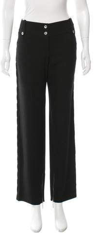 Christian Dior Texture-Trimmed Wool Pants