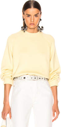 Tibi Crewneck Oversized Pullover in Butter Yellow | FWRD