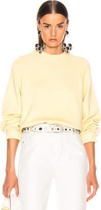 Tibi (ティビ) - Tibi Crewneck Oversized Pullover in Butter Yellow | FWRD