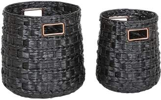 Very Set of 2 Kalahari Weave Storage Baskets