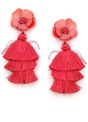 Wild Lilies Jewelry Floral Tassel Earrings