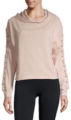 Andrew Marc PERFORMANCE Lace-Up Sleeve Hoodie