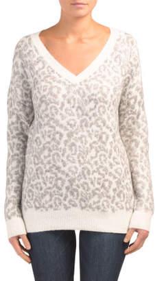 V-neck Cheetah Sweater