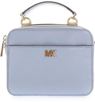 MICHAEL Michael Kors Small Light Blue Mott Shoulder Strap In Leather