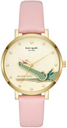 Kate Spade Women's Monterrey Pink Leather Strap Watch 38mm