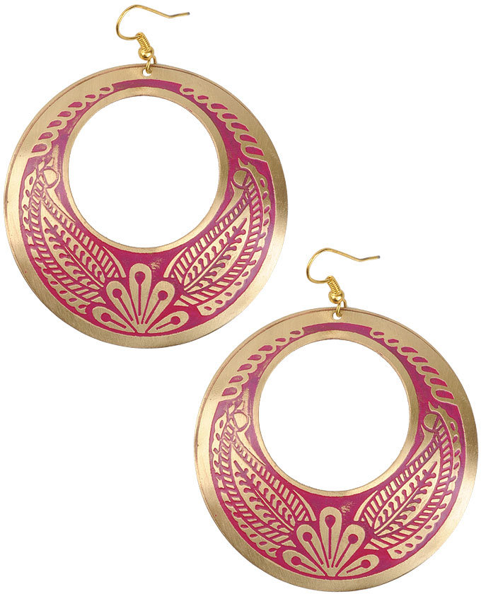 Tropicana Hoop Earrings