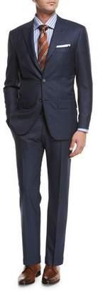 Kiton Tonal-Stripe Wool Two-Piece Suit, Blue
