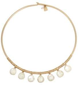Robert Lee Morris Soho Faux Pearl and Wire Wrap Necklace
