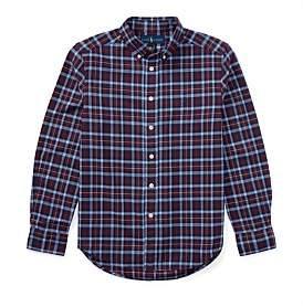 Polo Ralph Lauren Plaid Cotton Oxford Shirt(S-Xl)