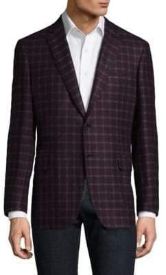 Brioni Checkered Wool Blazer
