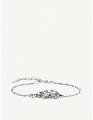 Thomas Sabo Tropical feather sterling silver bracelet