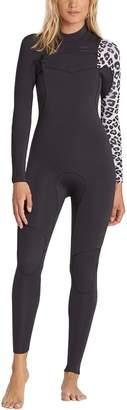 Billabong 3/2 Furnace Carbon Comp Chest-Zip Full Wetsuit - Women's