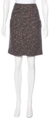 Chanel Tweed Wool Blend Skirt