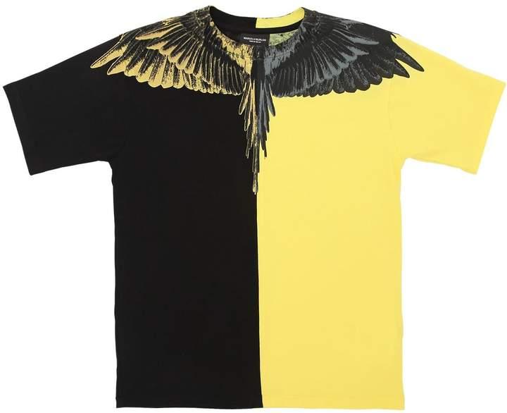 T-Shirt Aus Baumwolljersey Mit Flügeldruck