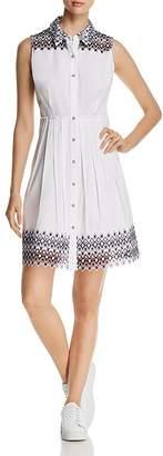 Elie Tahari Samiya Sleeveless Lace-Trim Shirt Dress - 100% Exclusive