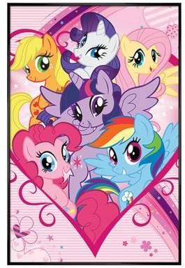 My Little Pony Gloss Black Framed Group Poster 61X91.5Cm