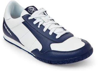 Diesel Blue & White Claw Action S-Toclaw Leather Sneakers