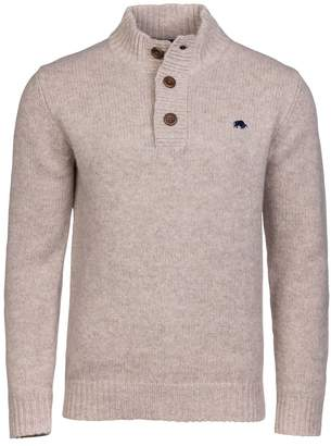 Men's Raging Bull Big And Tall Button Up Funnel Neck
