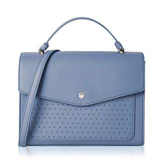 Co The Lovely Tote Women's Perforated Satchel Bag Flap Closure Cross-body Purse