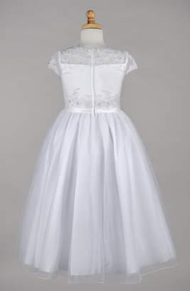 Ralph Lauren Marie Beaded Lace Bodice First Communion Dress