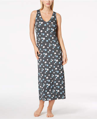 Alfani Poppy-Print Racerback Nightgown, Created for Macy's