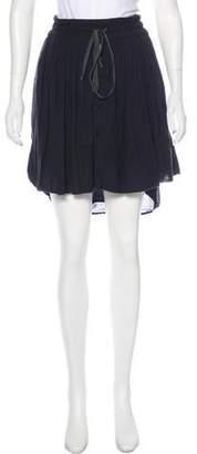 Raquel Allegra Pleated A-Line Mini Skirt