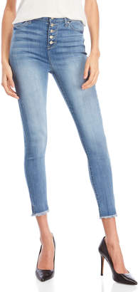 Celebrity Pink High-Waisted Button Fly Ankle Skinny Jeans
