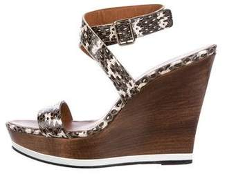 Givenchy Snakeskin Wedge Sandals