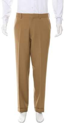 Ralph Lauren Purple Label Cropped Flat Front Casual Pants