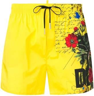 DSQUARED2 floral print swim shorts