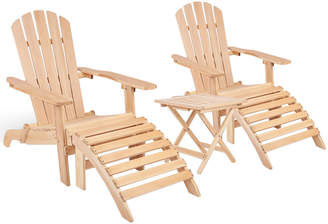 Dwell Outdoor 2 Seater Wooden Outdoor Table & Lounge Chair Set