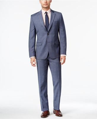 Lauren Ralph Lauren Men's Big & Tall Slim-Fit Total Comfort Light Blue Glen Plaid Suit $695 thestylecure.com