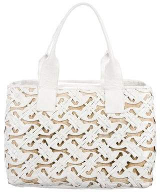Nancy Gonzalez Crocodile Cut-Out Daisy Tote