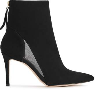 Reiss Kylie Mesh-Panel Ankle Boots