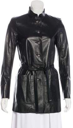 Chanel Paris-Bombay Leather Coat