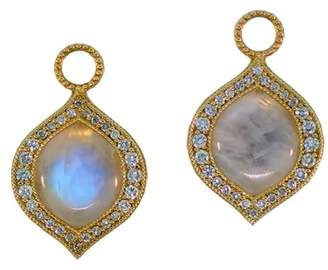 Jude Frances 18K Yellow Gold Genie Moonstone 0.47ct. Diamond Earring Charms