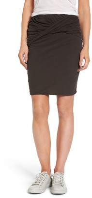 Women's James Perse Twisted Drape Skirt $165 thestylecure.com