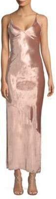 Fleur Du Mal Velvet Slip Dress