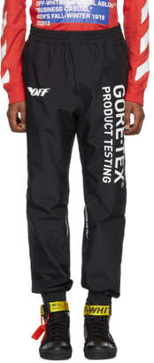 Off-White Off White Black Gore-Tex Track Pants