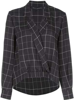 Sally LaPointe check print blouse