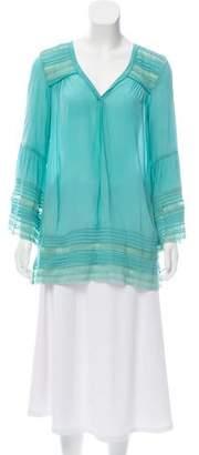 Calypso Long Sleeve Embroidered Tunic