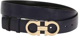 Salvatore Ferragamo 20mm Reversible Gancio Leather Belt